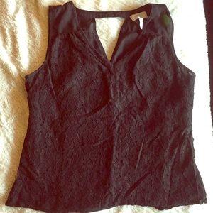 Black lace Laundry by Shelli Segal V-neck blouse